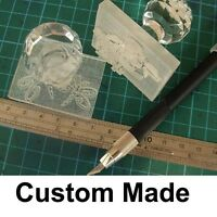 NEW Acrylic Glass customize Custom made Handmade Soap Cookie Seal Stamp