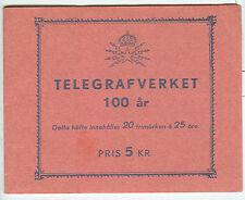 Sweden (H104) Scott 455a, 25ore Telegraph Svc. Booklet,