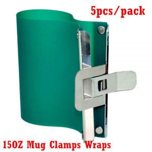 5PCS 3D Sublimation Silicone Mug Wraps for 15OZ Mugs, 3D Rubber Mug Clamps