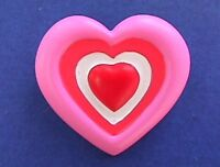 Hallmark PIN Valentines Vintage HEART Red PINK White 3D Holiday Brooch