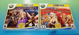 Lot of 2 Big Fish Hidden Object PC Games Dark Parables Cinderella Otherworld
