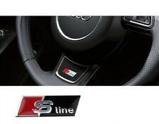 Aluminum Audi S Line Steering Wheel Sticker Emblem Decal Fits All Audi Models
