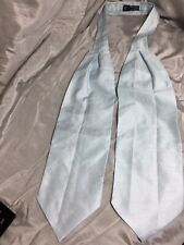 Pale Blue Taffeta Look Wedding Cravat