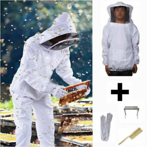 Professionale apicoltore tuta protettiva Abito per apicoltura Pelle Guanto