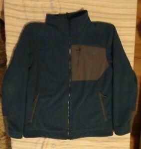 Men's The North Face Chimborazo Full Zip Sherpa Lined Fleece Jacket Blue Medium