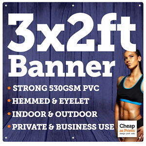 3ft x 2ft Personalised Vinyl Banners   Outdoor Advertising Signs & Party Banners