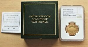 Rugby World Cup 1999 UK Gold Proof £2 Two Pound coin  NGC PF 70 Ultra Cameo