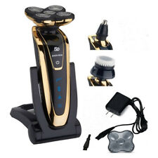 Gold Rotary 5D Rechargeable Washable Men's Cordless Electric Shaver Razor Deluxe