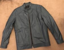 Green leather jacket - Genuine Leather