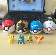 4pcs/ Lot Pokemon Pokeball Toys Pikachu Battle Ball Kids Balls 7cm Free Shipping