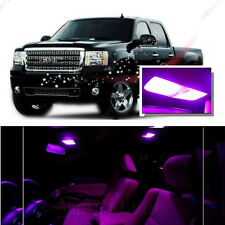 For GMC Sierra 1500 2500 3500 2007-13 Pink LED Interior Kit + Pink License Light