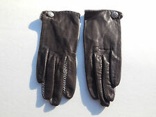**MARSHAL FIELDS LADIES BROWN KID LEATHER GLOVES SILK LINING SZE 6.5