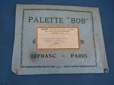 """Ancienne palette """"bob"""" lefranc paris artiste peintre objet de décoration ecole"""