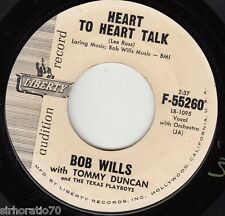BOB WILLS Heart To Heart Talk / What's The Matter With The Mill 45 - PROMO