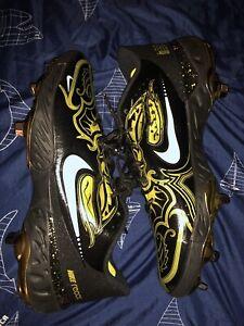 Nike Alpha Huarache Elite 3 Low Black Gold