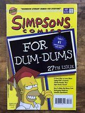 Simpsons Comics #27 Bongo 1996 Homer VF