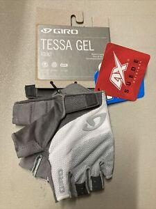 ! Giro Tessa Gel Medium Adult  Womens Cycling Bike Bicycle Gloves Grey/White