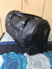 "20"" Black Leather Duffle Travel Bag Weekend Luggage Carryon Aircabin Handbag"