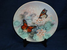 MONARCH BUTTERFLIES On Gossamer Wings Collector's Plate by Lena Liu XERCES Soc.