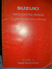 SUZUKI PARTS CONTROL MANUAL TELLS YOU WHAT THE PART NUMBER MEANS