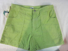 RUSTY Girls Ladies Corduroy Cord Shorts Celery Green SIZE 3 BRAND NEW