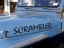 JEEP CJ-8 SCRAMBLER HOOD DECALS GLOSS BLACK