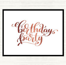 Rose Gold Birthday Party Quote Mouse Mat Pad
