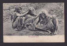 Life in India 1900s Vintage Real Scence Postcard - The Guzrat Hunt