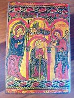 RUSSIAN GREEK ORTHODOX CHRISTIAN ICON SAINTS JOSEPH MARIA BABY JESUS GABRIEL