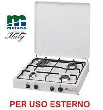 FORNELLO 4 FUOCHI GAS METANTO (GAS CITTA') - GRIGLIA SMALTATA - PER USO ESTERNO