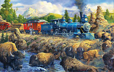 Jigsaw Puzzle Train Delaying the iron Horse 550 pieces NEW Made in the USA