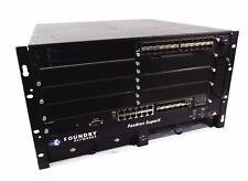 Foundry Networks FastIron SuperX FI-8X1 w/ 1 x FI-424HF 1 x SX-FI12GM-4