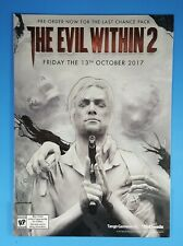 THE EVIL WITHIN 2 Mini Standee Counter Store Display RARE Promo UNUSED!