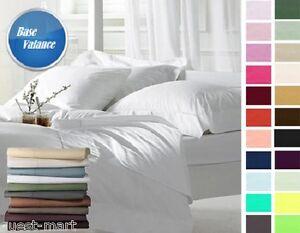 "Luxuries Plain Dyed Platform Extra Deep 16"" Frill BASE VALANCE Box Frilled Sheet"