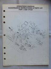 Vintage Rupp C-500 Operations Manual, Maintenance Instructions
