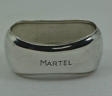 Art Deco solid silver napkin ring engraved  MARTEL  H BAUER SCHWABISCH Germany
