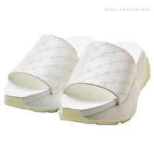 Stella McCartney eclypse monogrammed white slide sandals NWT size 7