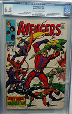 AVENGERS #55 CGC 6.5 OW/W PAGES 1968 1ST APP ULTRON THE AVENGERS