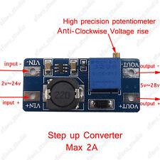 2A DC-DC Boost Step up Adjustable Volt Converter 3V-24V to 5v-28v 6v 9v 12v 24v