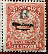 More details for nicaragua correos 4 centavos, american banknote co. stamp 1905