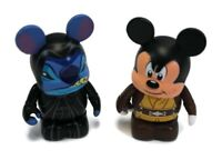 "DISNEY 3"" VINYLMATION - Lot of 2 Mickey Jedi & Stitch Emperor Palpatine LE 2000"