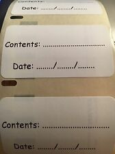 NEW 100 Printed Food Freezer General Purpose Food Labels 57 x 32mm UK Free Post