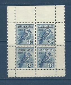 AUSTRALIA - B95a - PANE OF 4 - MNH - 1928 - KOOKABURRA - MELBOURNE INT'L PHILEX
