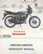 Genuine Honda MBX80F (1983-on) Factory Shop reparación Manual Mbx 50 80 F FW FWD