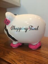 Shopping Fund Piggy Bank Money Box Ceramic Pig With High Heels