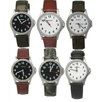 Wenger Swiss Army Men's Luminous watch Leather/Canvas Band Stainless steel case