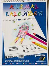 Marpa Jansen Ausmalkalender Mal Kalender Bastel Kinder