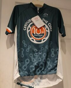 """Primal Men's Cycling Bike Jersey Size L """"Century For The Cure"""" Logo NWT"""