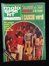 MOTO SPRINT - N. 50 DICEMBRE 1979  - MORBIDELLI E DE COSTER