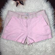 GAP Womens sz 4 Light Pink Color Block Short Shorts Linen Blend Casual Summer